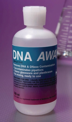 Bioproductos moleculares DNA AWAY® para descontaminar superficies