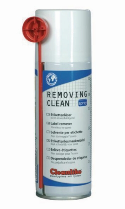 REMOVING CLEAN SPRAY, disolvente de etiquetas