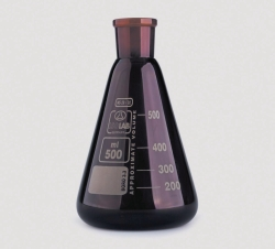 Matraces Erlenmeyer, cuello NS, vidrio de borosilicato 3.3, ámbar