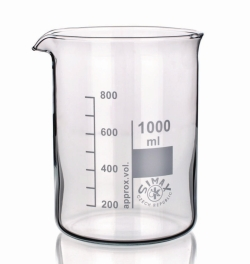 Beakers, Borosilicate glass 3.3, low form